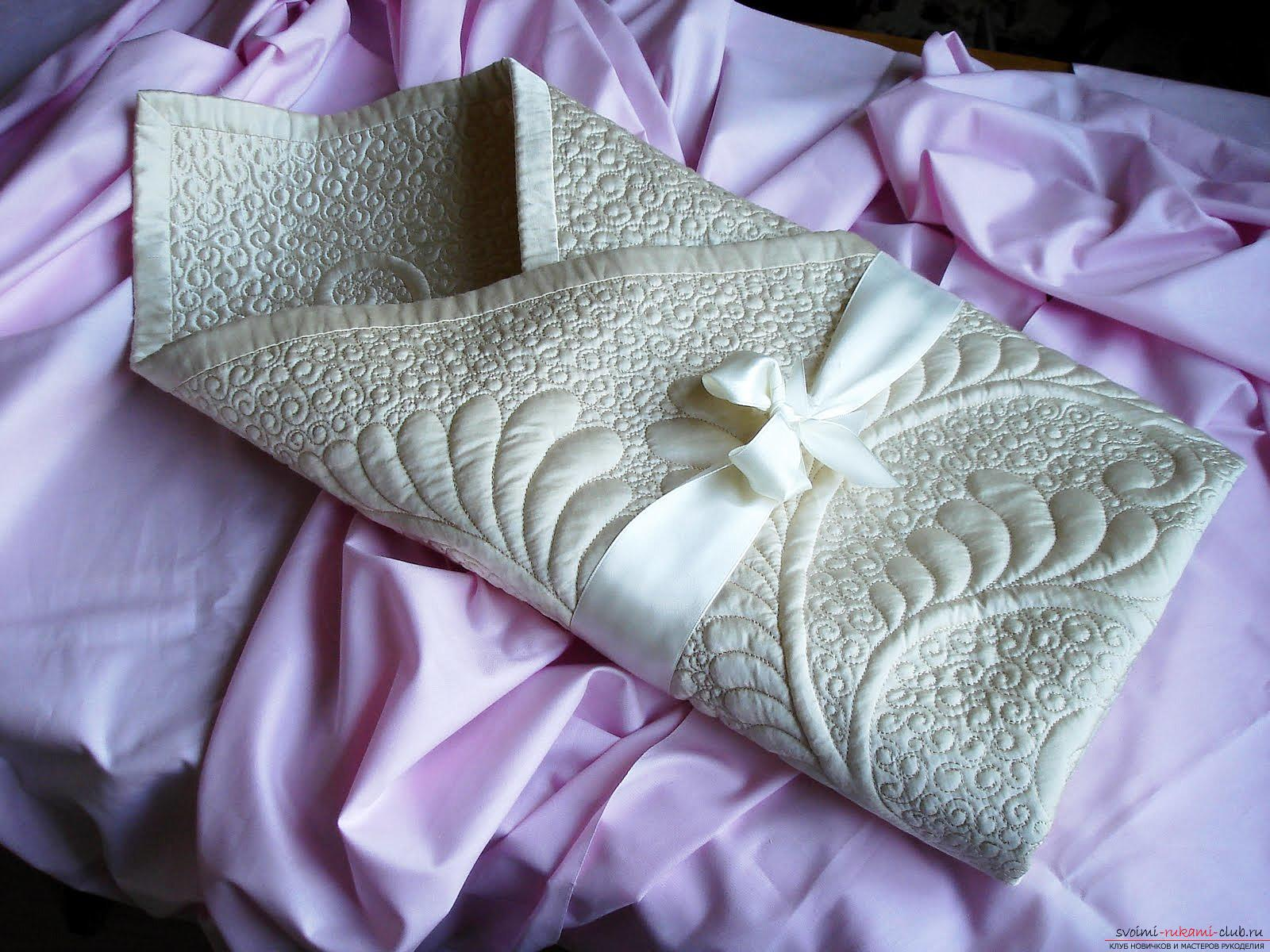 How to sew a beautiful envelope for a newborn baby. Photo №1