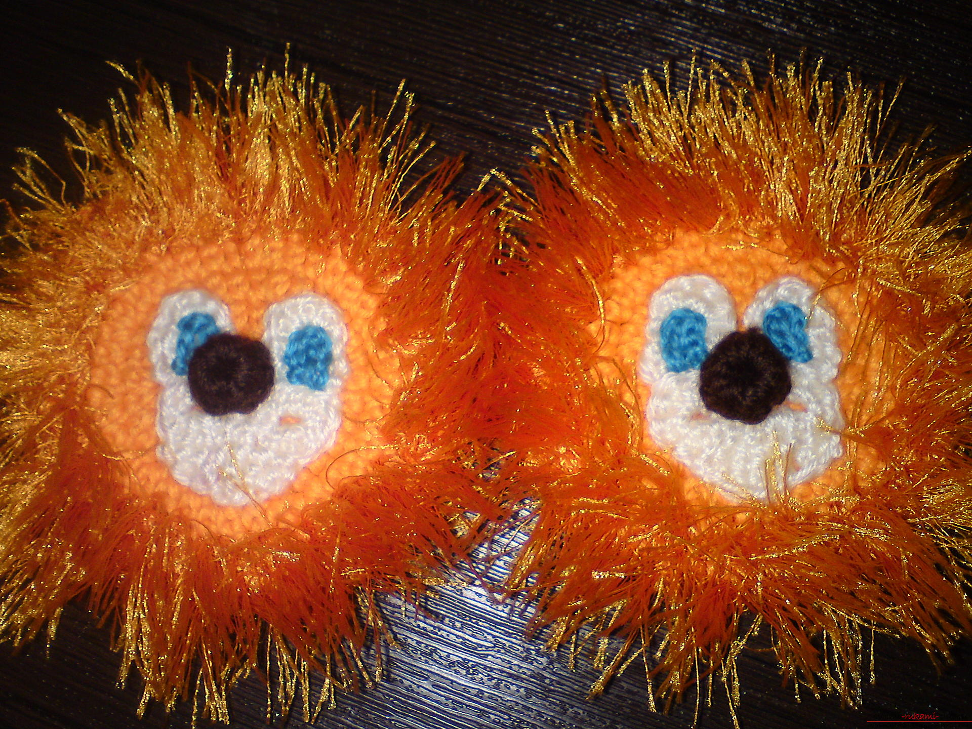 This master class will teach crochet of children's boots in the form of a lion .. Photo # 8