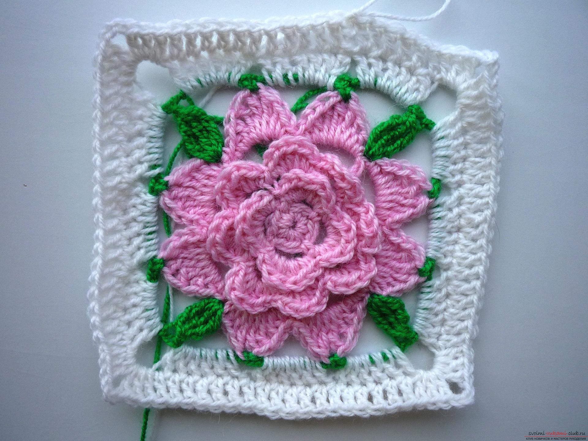 This crochet masterclass contains a crochet color scheme for the plaid .. Photo # 21