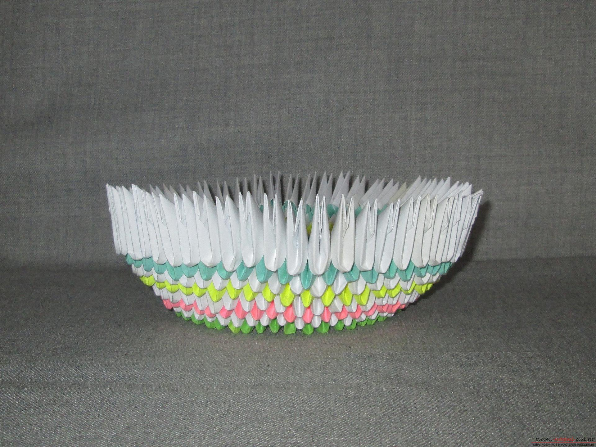 This master class will teach how to make your own hands from a modular origami boat .. Photo # 6