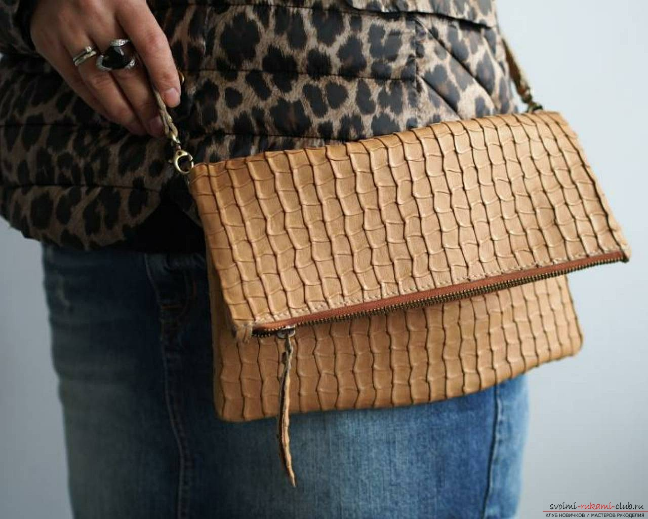 leather clutch for women with their own hands. Photo №6