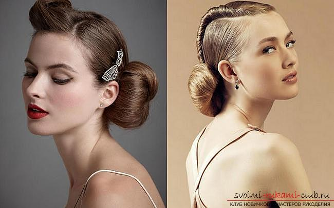 Various options for evening hairstyles for medium hair, tips for creating them and illustrative examples .. Photo # 4