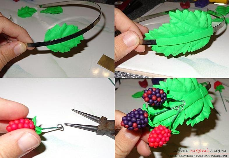 How to make your own hair rim with polymer clay hair, master class with a photo .. Photo # 24