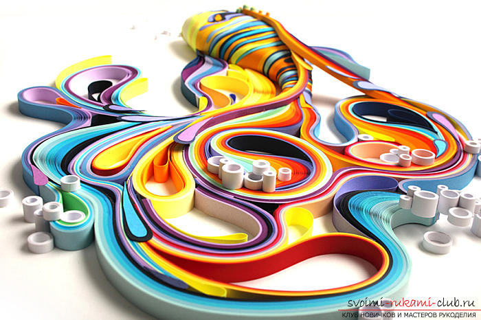 Quilling lessons for small children. Photo # 2