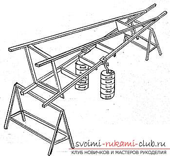 Assembly of a ladder made of wood with your own hands is a step-by-step instruction. Photo №6