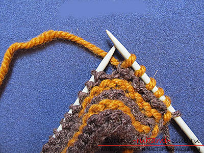 How to tie comfortable slippers-blind with knitting needles. Photo №6