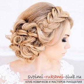 A lot of wedding hairstyles for 2016 with their own hands. Picture №3