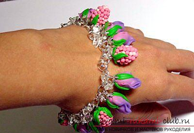 A gift by March 8 in the form of jewelry made of polymer clay. Picture №10