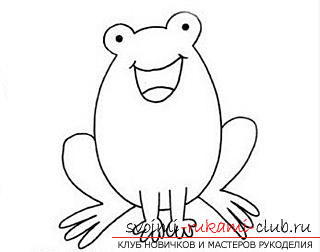 Children's drawings, the image of a frog. Photo №1