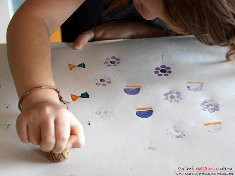 Unconventional drawing techniques for children 2 - 3 years. Photo №4
