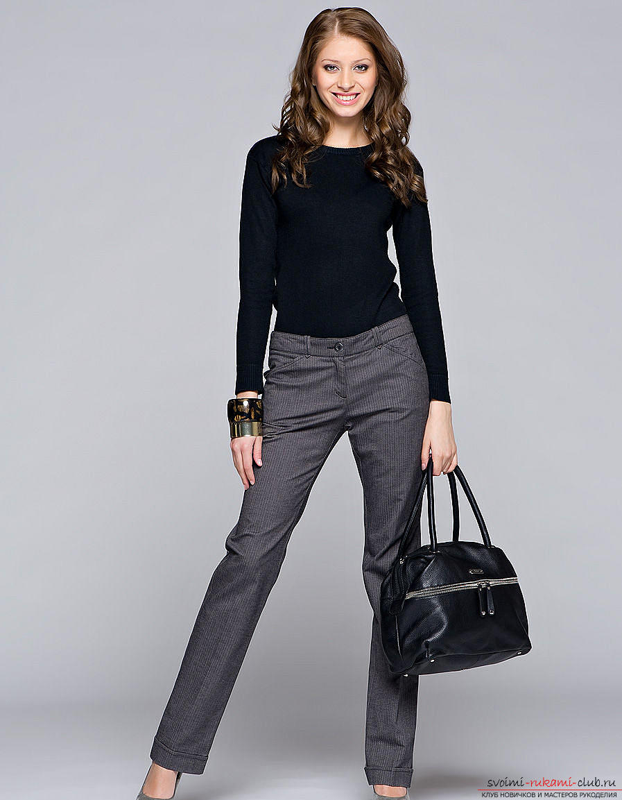 Pattern of classic trousers for women. Photo # 2