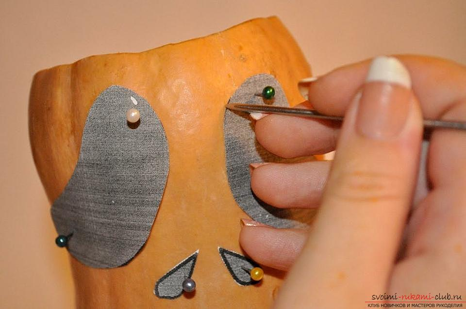 How to make a lamp from a pumpkin with their own hands .. Photo # 5