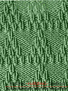 We learn to knit patterns with knitting needles: a lesson for beginner needlewomen. Photo №7