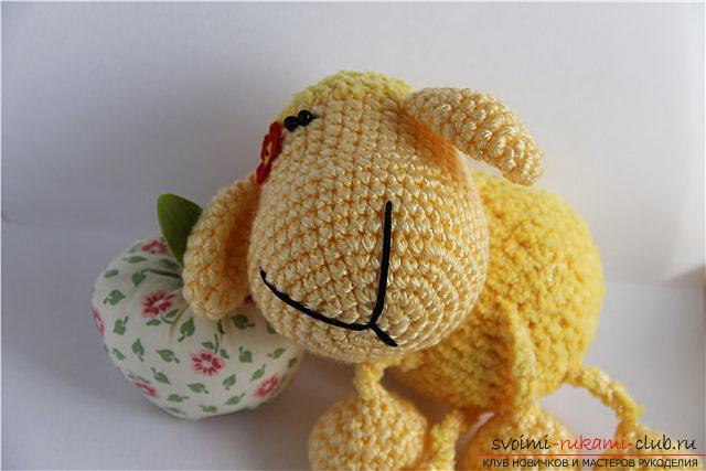 Tie the lamb amigurumi with your own hands using the hook: step-by-step description and photo. Photo №6