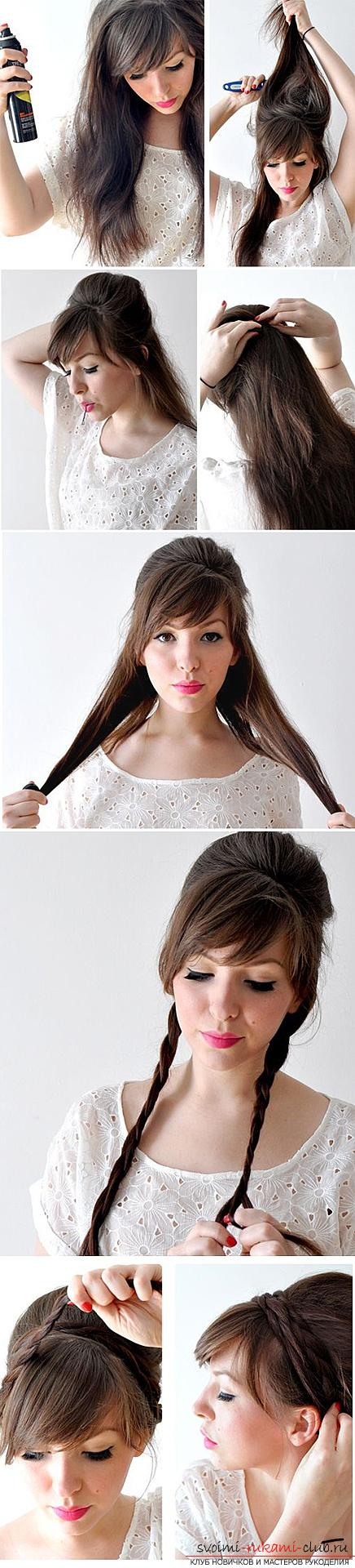 How to beautifully and quickly braid long hair at home with their own hands, step by step photos and description. Photo №7