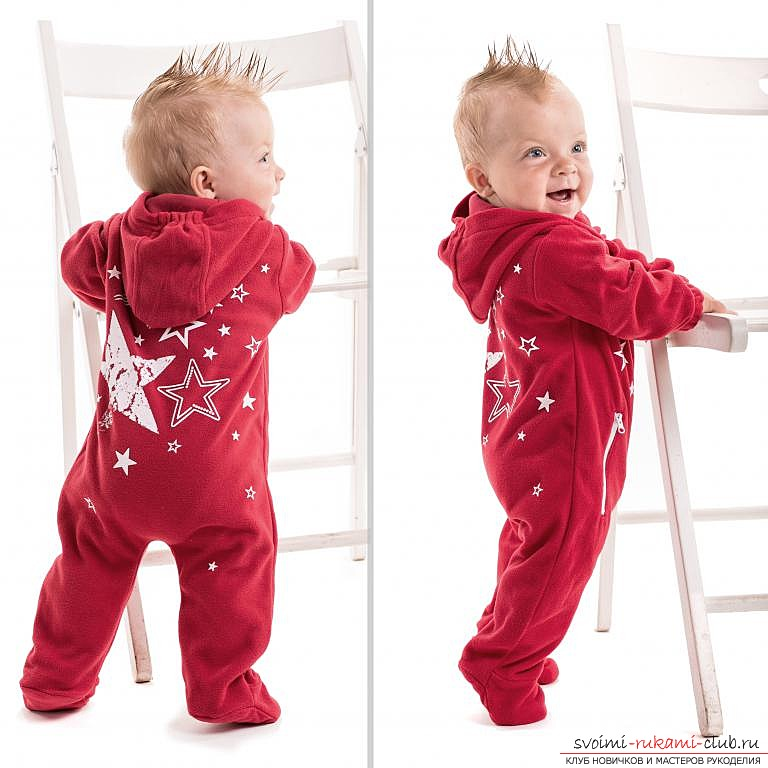 photo description of the pattern of overalls for the newborn. Photo №1