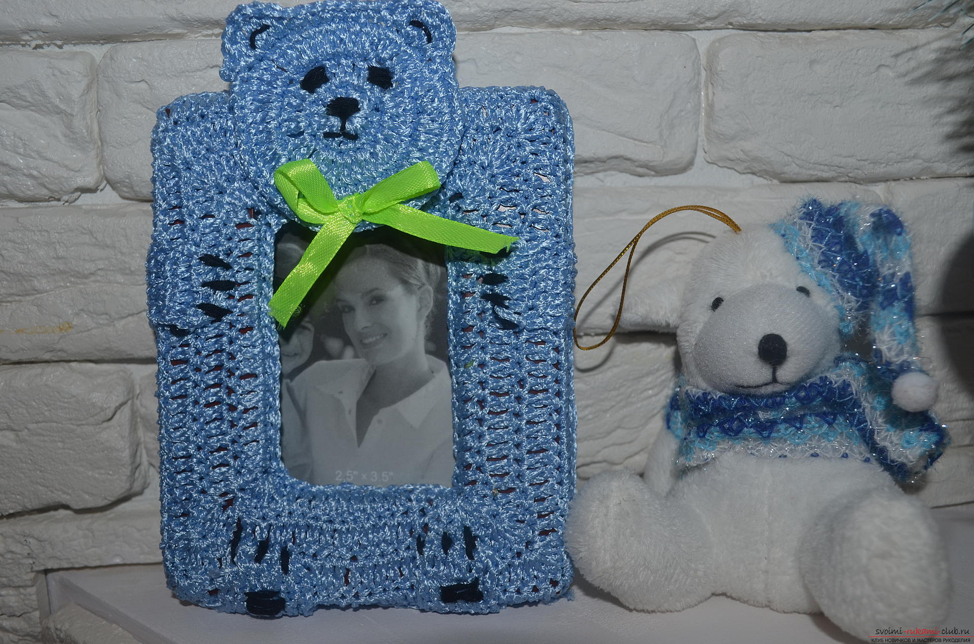 This master class and a crochet lesson are for those who want to learn how to knit a photo frame with their own hands. Photo №1