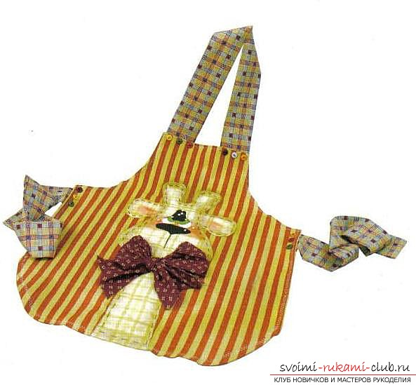 Apron for the kitchen, made by own hands. Photos of various aprons .. Photo # 3