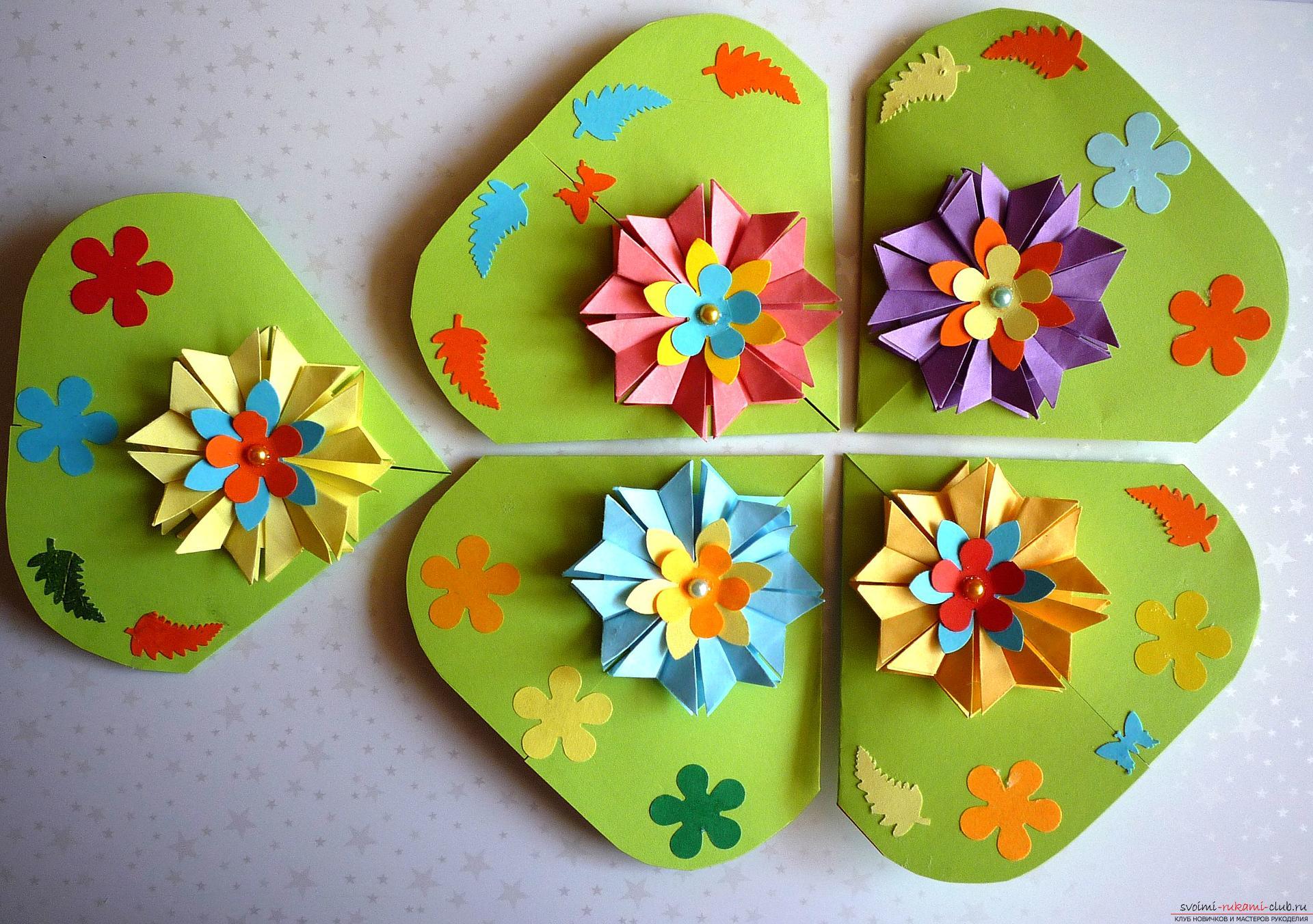 Майсторският клас ще ви каже как да направите модулна звезда от оригами от хартия със собствените си ръце. Снимка номер 16