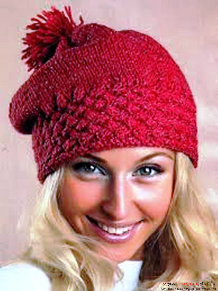 knitted knitted cap of acrylic yarn. Photo №6