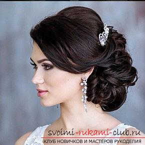 A lot of wedding hairstyles for 2016 with their own hands. Photo №8