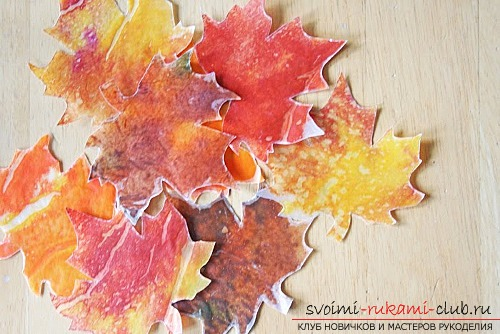 We make autumn articles from paper .. Photo # 4