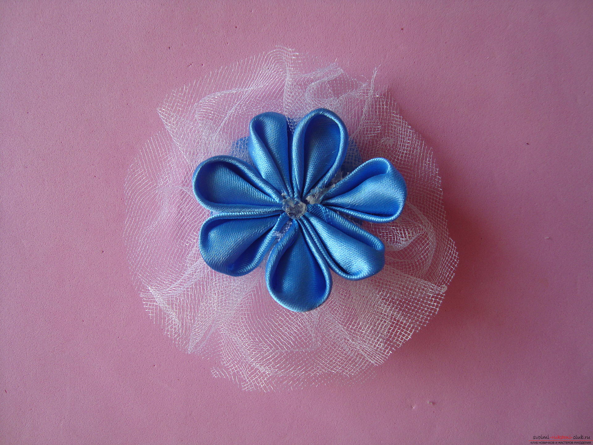Master class for faking a delicate barrette with their own hands ,. Photo Number 14