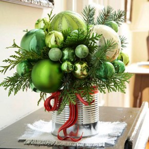 New Year's bouquet of Christmas decorations