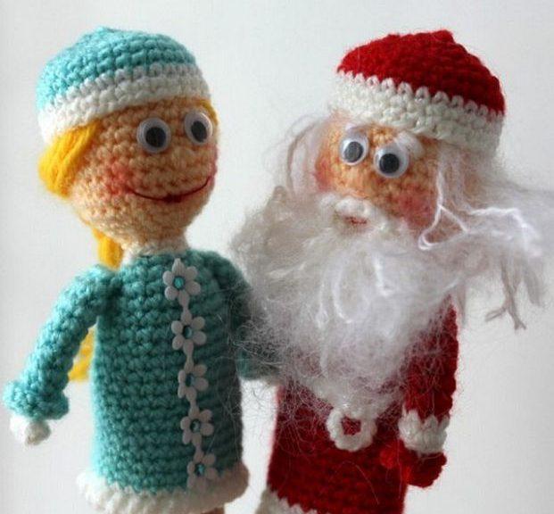 Wie man eine Weihnachtsmann-Häkelarbeit bindet