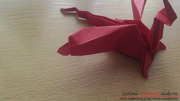 This detailed master class contains an origami-dragon scheme made of paper, which you can make by yourself. Photo # 42