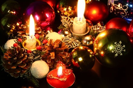 Candles for New Year's decor