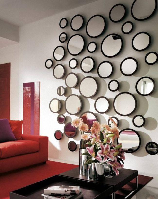 Or many small mirrors - create the illusion of modernity