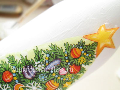Schedule a place for decoupage