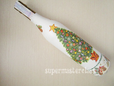 Napkins for decoupage bottles for the New Year