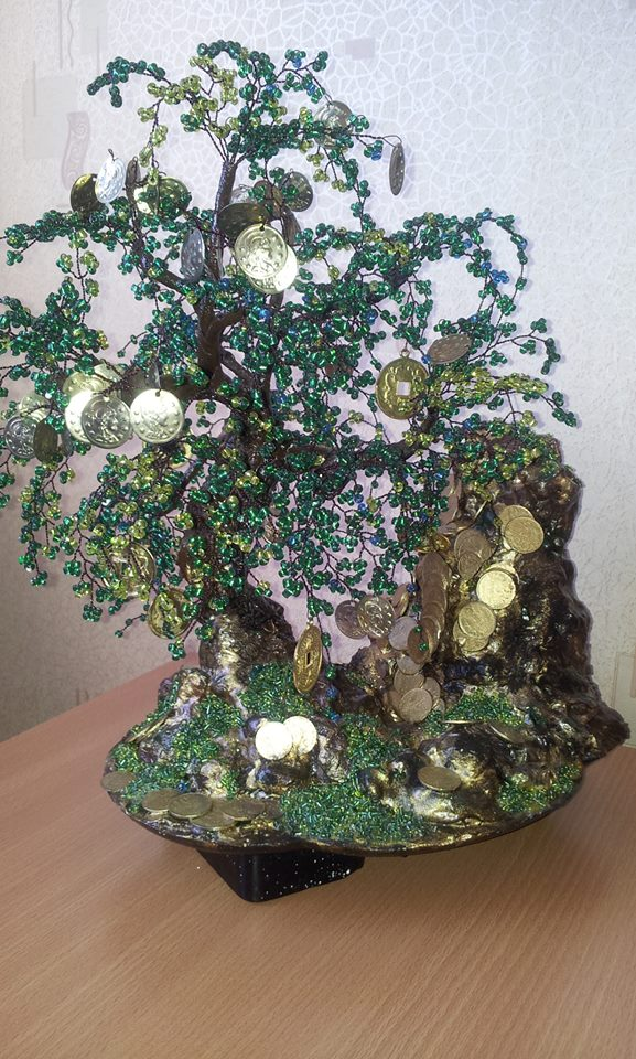 money tree with your own hands, gift idea
