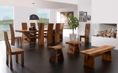 Wooden furniture in a contemporary style