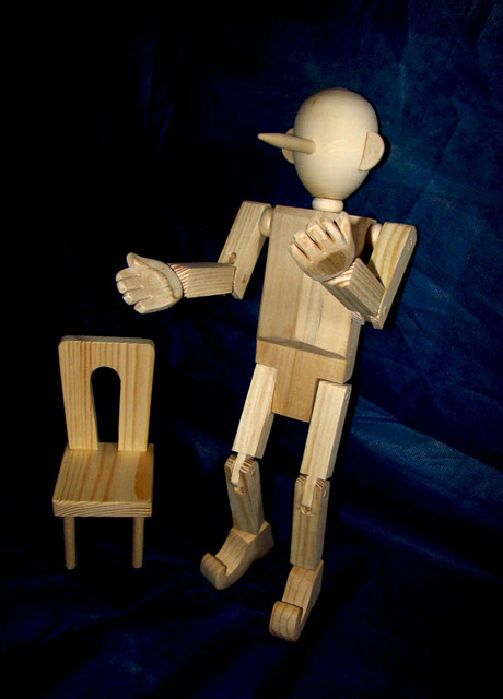 Wooden Pinocchio by own hands-9