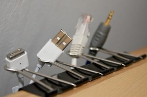 Holder for plugs.