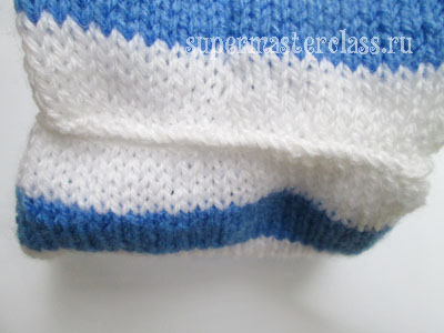 How to knit a baby hat with knitting needles
