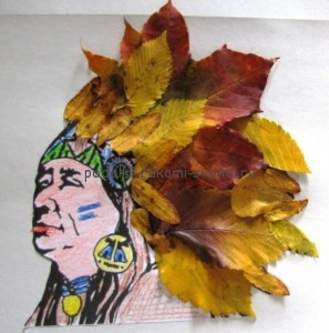 Children's applications from autumn leaves