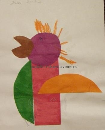 Children's applications. Crafts for children 2 - 3 years (2)