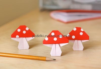 Children's autumn crafts made of paper. origami (22)