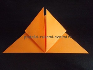 Children's autumn crafts made of paper. origami (28)