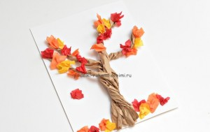 children's autumn hand-made articles with their own hands