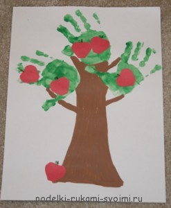 Children's crafts. What can be done from fingerprints (10)