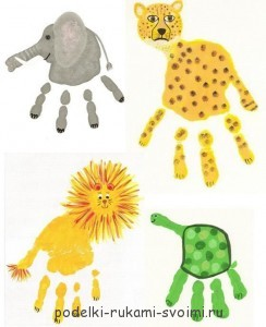 Children's crafts. What can be done from fingerprints (30)