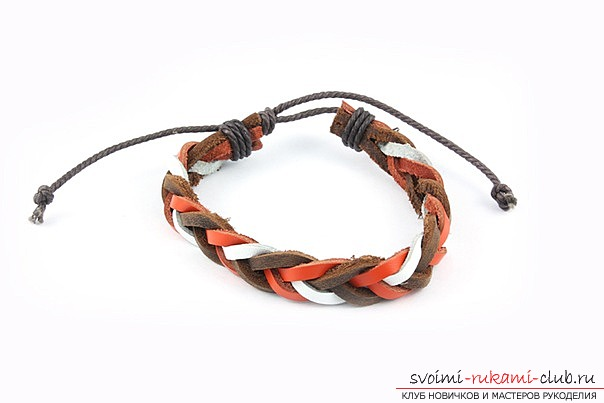 Leather bracelet for your beloved .. Photo # 8