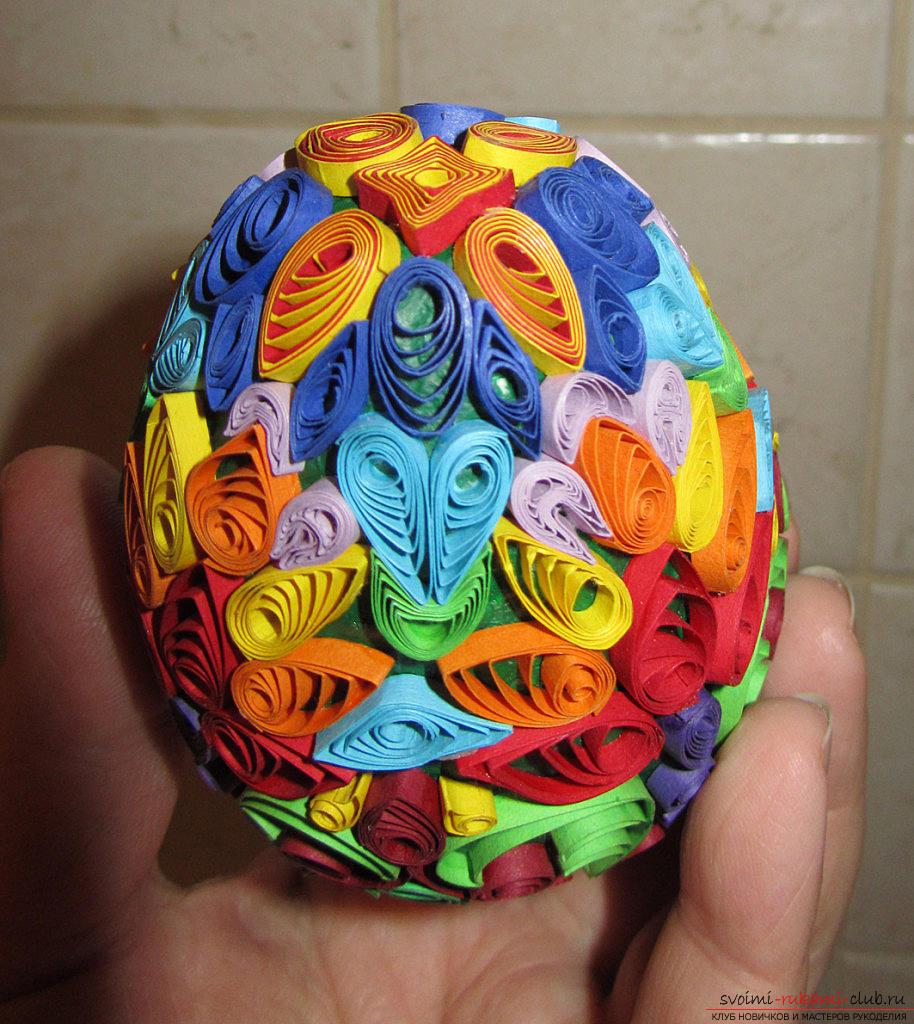 Яйце декоративне: техніка квіллінг. фото №3