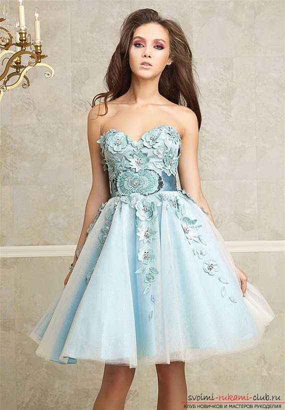 How to prepare and sew a prom dress yourself: Tips, photos for students and graduates of the school .. Photo # 2