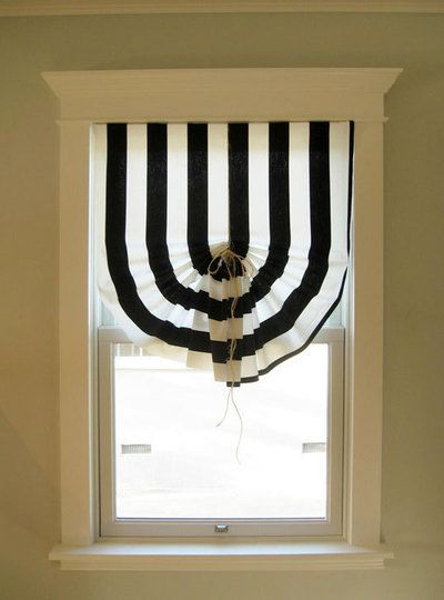 roman blinds with your own hands in striped